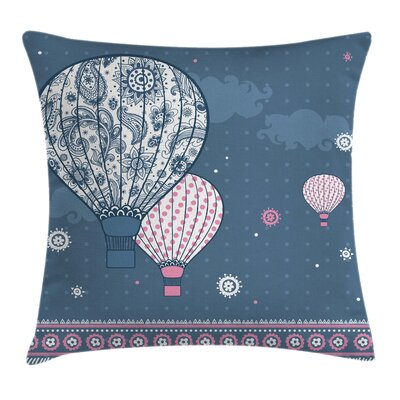 Air Balloon Pillow Cover Size: 24 x 24