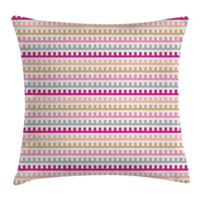 Maze Like Retro Style Square Pillow Cover Size: 18 x 18