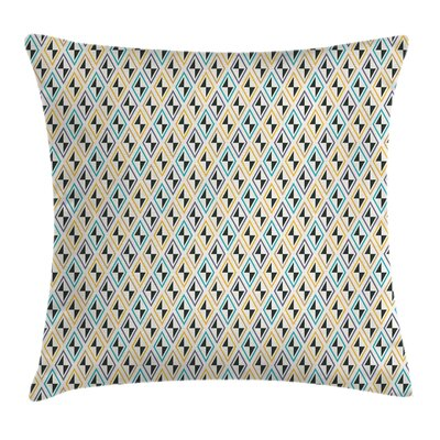 Funky Diamond Line Square Pillow Cover Size: 16 x 16