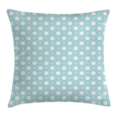 Detailed Circular Flowers Square Pillow Cover Size: 16 x 16