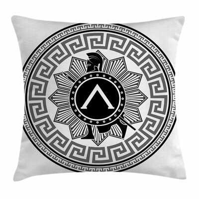 Spartan Soldier Icon Square Cushion Pillow Cover Size: 16 x 16
