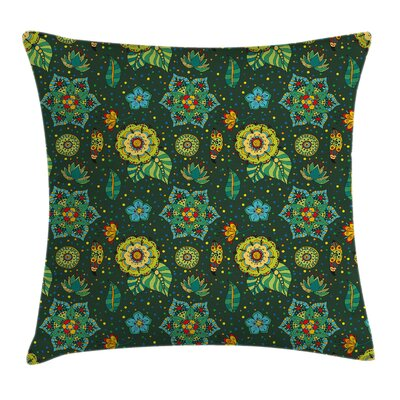 Floral Fantasy Festive Square Pillow Cover Size: 24 x 24