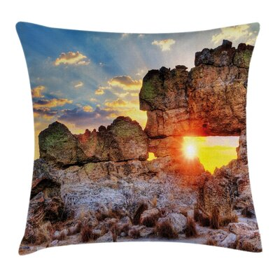 Sunset Rock Formation Square Pillow Cover Size: 24 x 24