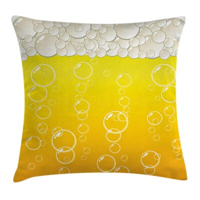 Graphic Print Square Pillow Cover Size: 16 x 16