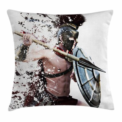 Warrior Battle Dress Square Cushion Pillow Cover Size: 20 x 20