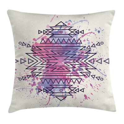 Ethnic Motif Brushstroke Square Pillow Cover Size: 18 x 18