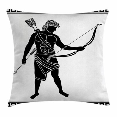Hellenic Bowman Eros Square Cushion Pillow Cover Size: 18 x 18