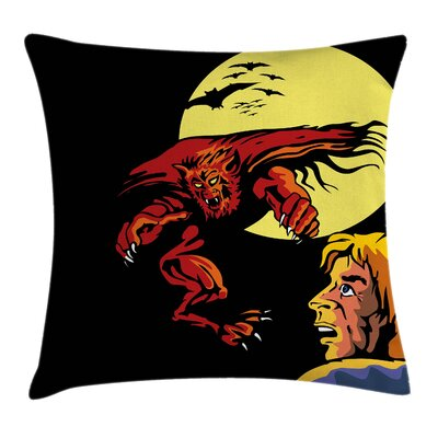 Modern Cartoon Pillow Cover Size: 24 x 24