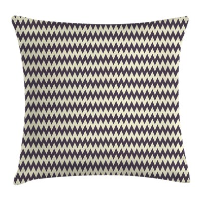 Chevron Narrow Sharp Zigzags Square Pillow Cover Size: 18 x 18