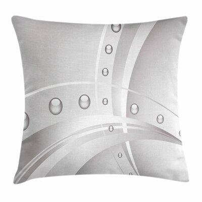 Lines Curves Vivid Balls Square Cushion Pillow Cover Size: 24 x 24