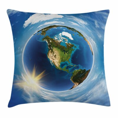 America Landscape Space Square Pillow Cover Size: 20