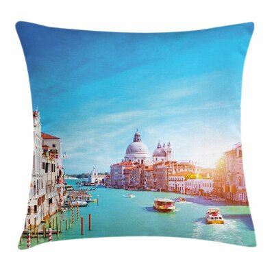 Grand Canal the Salute Square Pillow Cover Size: 18 x 18