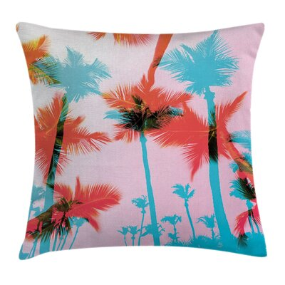 Palm Tree Silhouettes Square Pillow Cover Size: 24 x 24
