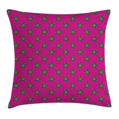Modern Graphic Print 16 Square Pillow Cover with Zipper Size: 18 x 18