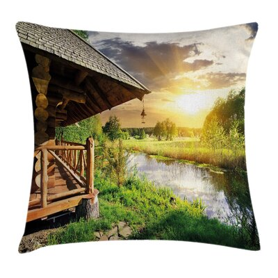 Country House Pillow Cover Size: 16