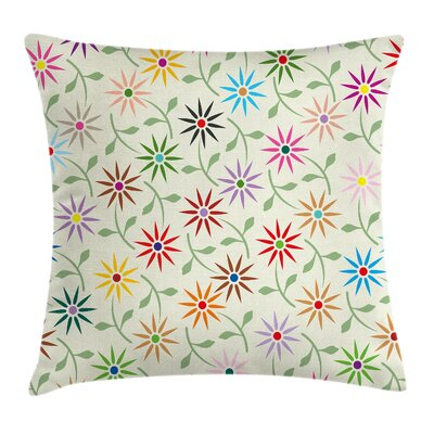 Floral 16 Square Pillow Cover with Zipper Size: 24 x 24
