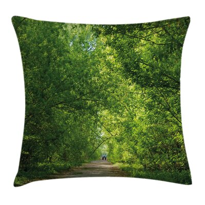 Fresh Canopy Forest Square Pillow Cover Size: 24 x 24