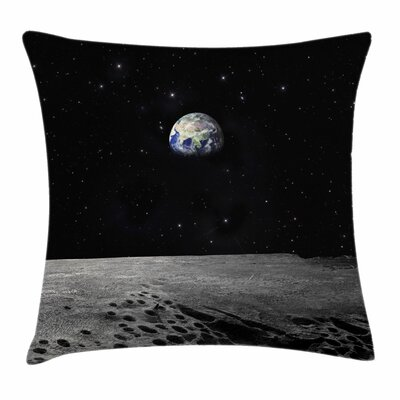 Earth from Moon Square Pillow Cover Size: 24