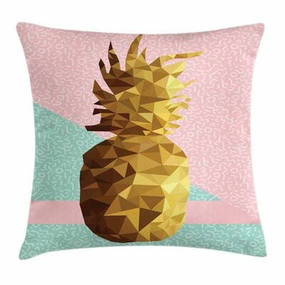 Poly Pineapple Summer Square Cushion Pillow Cover Size: 24 x 24