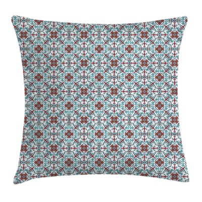 Ethnic Antique Floral Cushion Pillow Cover Size: 18 x 18