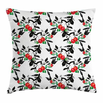 Vivid Mountain Berries Square Pillow Cover Size: 16 x 16
