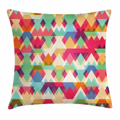 Triangles Artsy Square Cushion Pillow Cover Size: 18 x 18