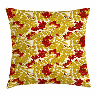 Juicy Ripe Fruits Leafage Square Pillow Cover Size: 20 x 20