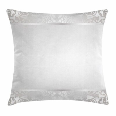 Rococo Style Ornaments Square Cushion Pillow Cover Size: 18 x 18