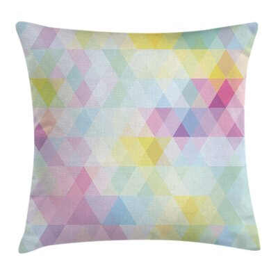 Geometric Rhombus Art Square Pillow Cover Size: 18 x 18