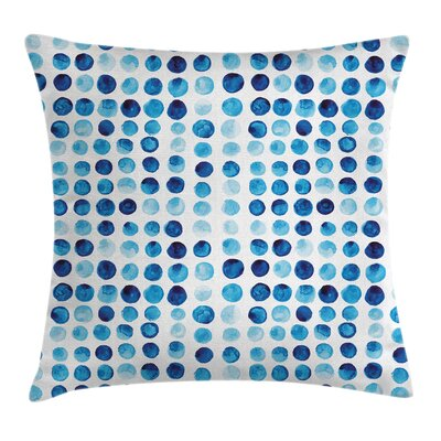 Hand Drawn Circles Cells Square Pillow Cover Size: 16 x 16