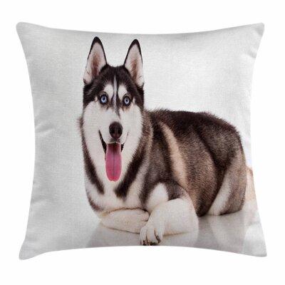 Alaskan Malamute Funny Siberian Square Pillow Cover Size: 20 x 20