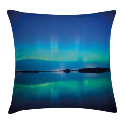 Sky Scenery Calm Lake Cushion Pillow Cover Size: 18 x 18