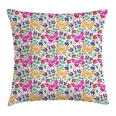 Summer Blooms Cushion Pillow Cover Size: 24 x 24