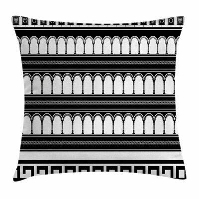 Colosseum Arch Art Square Cushion Pillow Cover Size: 16 x 16