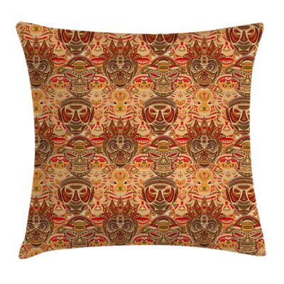 Ethnic Primitive Figures Cushion Pillow Cover Size: 16 x 16