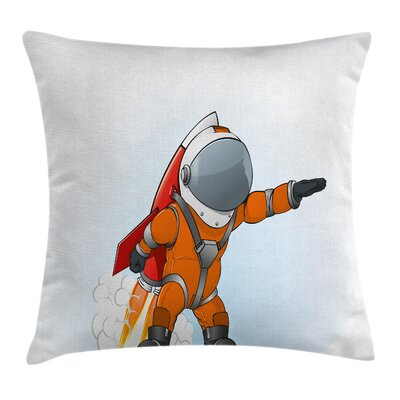 Astronaut Galaxy Journey Cushion Pillow Cover Size: 20 x 20
