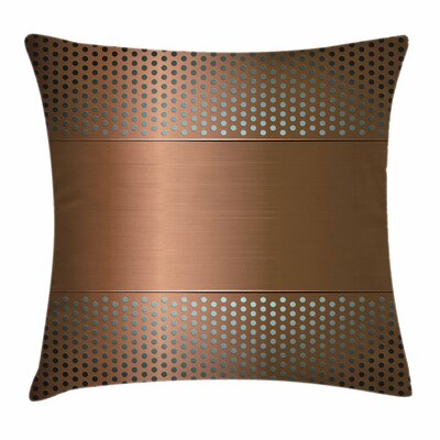 Perforated Grid Square Pillow Cover Size: 18 x 18