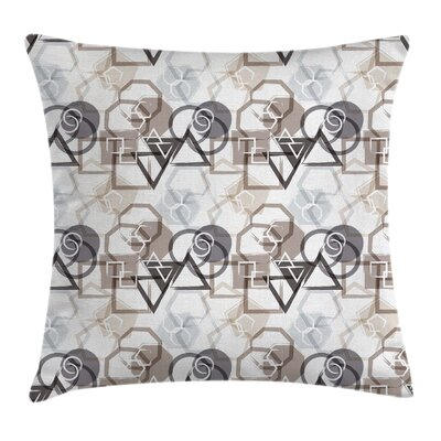 Geometric Modern Art Square Pillow Cover Size: 16 x 16