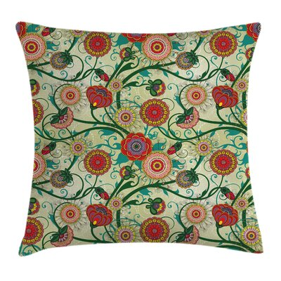 Floral 16 Square Pillow Cover Size: 16 x 16