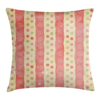 Stripes and Dots Pillow Cover Size: 18 x 18