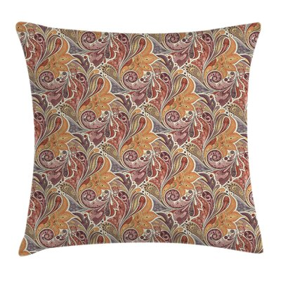 Paisley Pattern Square Pillow Cover Size: 18 x 18