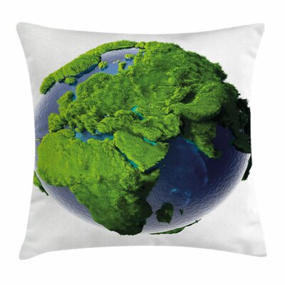Earth World Lush Forest Waters Square Pillow Cover Size: 24 x 24
