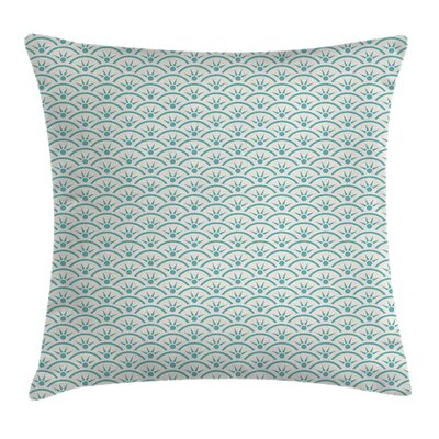 Asian Ethnic Ocean Square Pillow Cover Size: 16 x 16