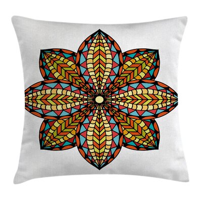 Mandala Ethnic Floral Cushion Pillow Cover Size: 24 x 24