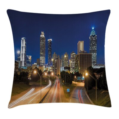 Skyline Twilight Square Pillow Cover Size: 16 x 16