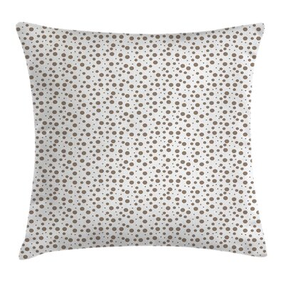 Big Small Drops Spots Square Pillow Cover Size: 18 x 18