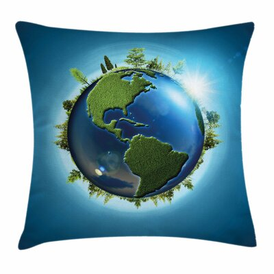 Earth Seas Fresh Continent Square Pillow Cover Size: 18 x 18