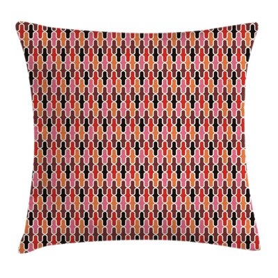 Vertical Lines Graphic Square Pillow Cover Size: 18 x 18