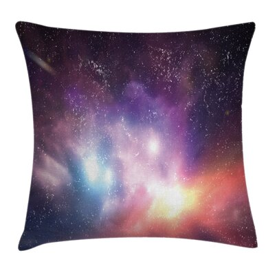 Galaxy Cosmos Universe Space Square Pillow Cover Size: 16 x 16