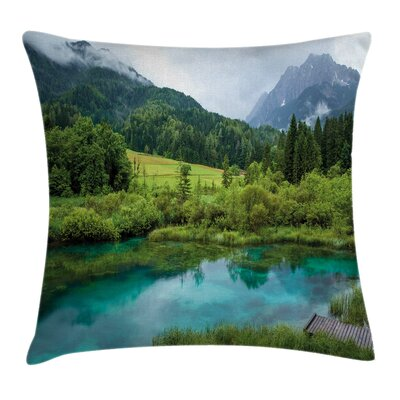 Zelenci Pond Slovenia Square Pillow Cover Size: 24 x 24